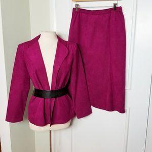 Vintage Ultrasuede Skirt Suit